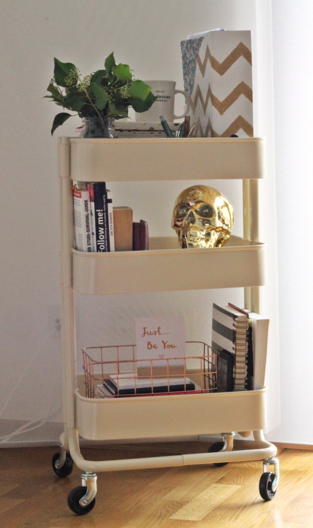 diy my office cart das kleinste b ro der welt the golden kitz. Black Bedroom Furniture Sets. Home Design Ideas