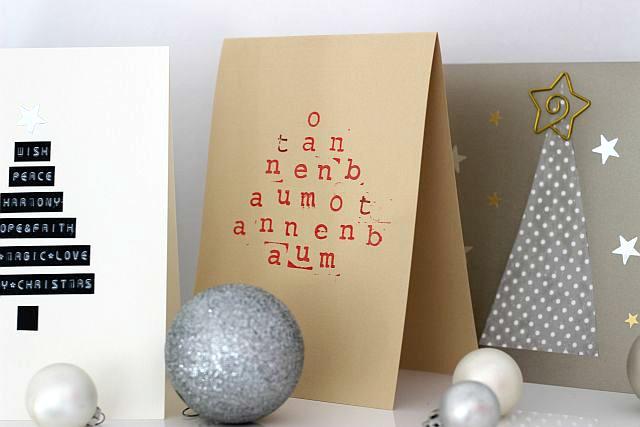 Last Minute Weihnachtskarten selbstgemacht