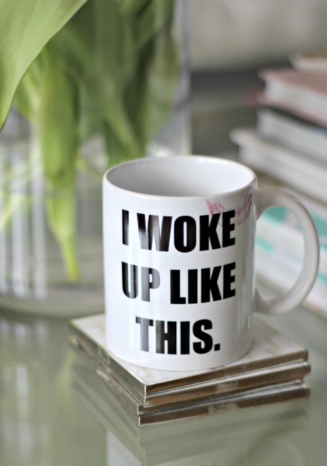 """Die Fototasse – """"I woke up like this"""""""