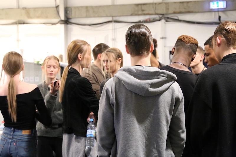 Backstage bei der Odeur Fashion Show mit Ecco