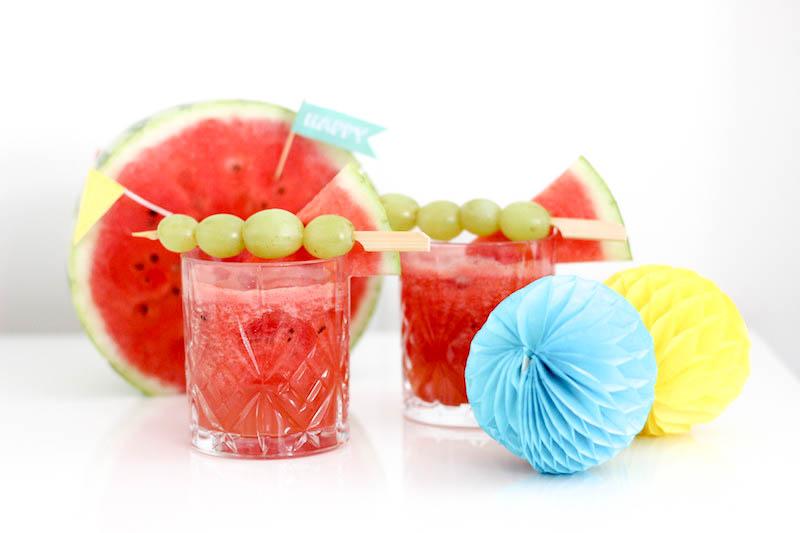 Sommerpartygetränk: Wassermelonenlimonade