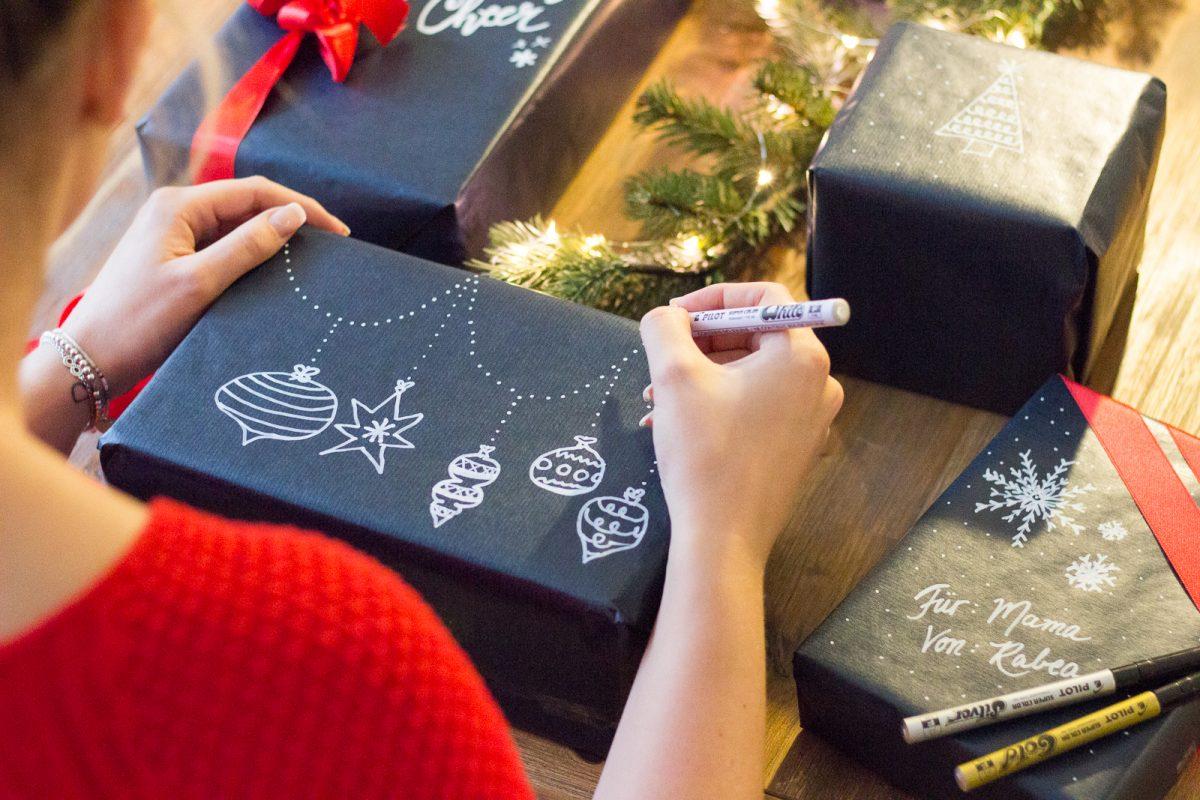 a very bloggy christmas diy weihnachtsdeko und pilot pen. Black Bedroom Furniture Sets. Home Design Ideas