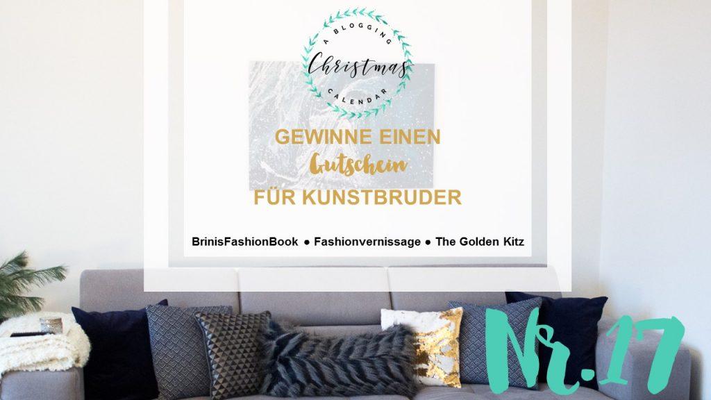 A blogging Christmas Calender #17: 50€ Gutschein für Kunstbruder