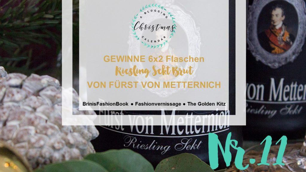 A blogging Christmas Calendar #11: Weihnachtlich den Tisch decken mit Fürst von Metternich-Sekt