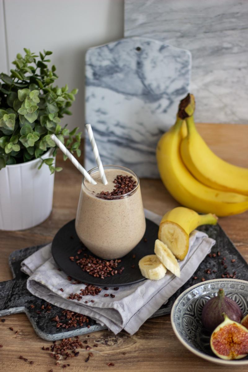 Gesunder Bananen-Mandel-Smoothie