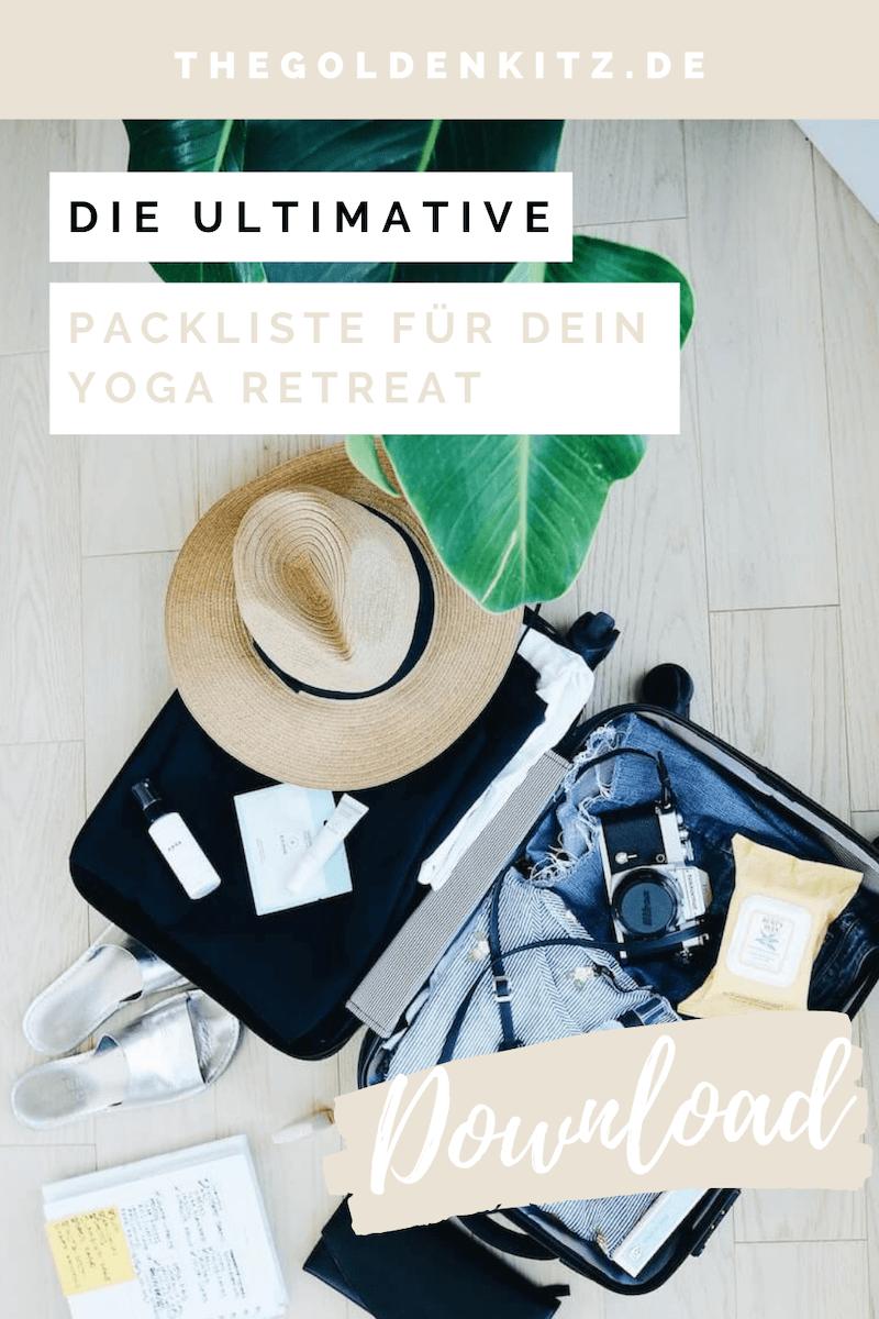 Packliste Yoga Reise